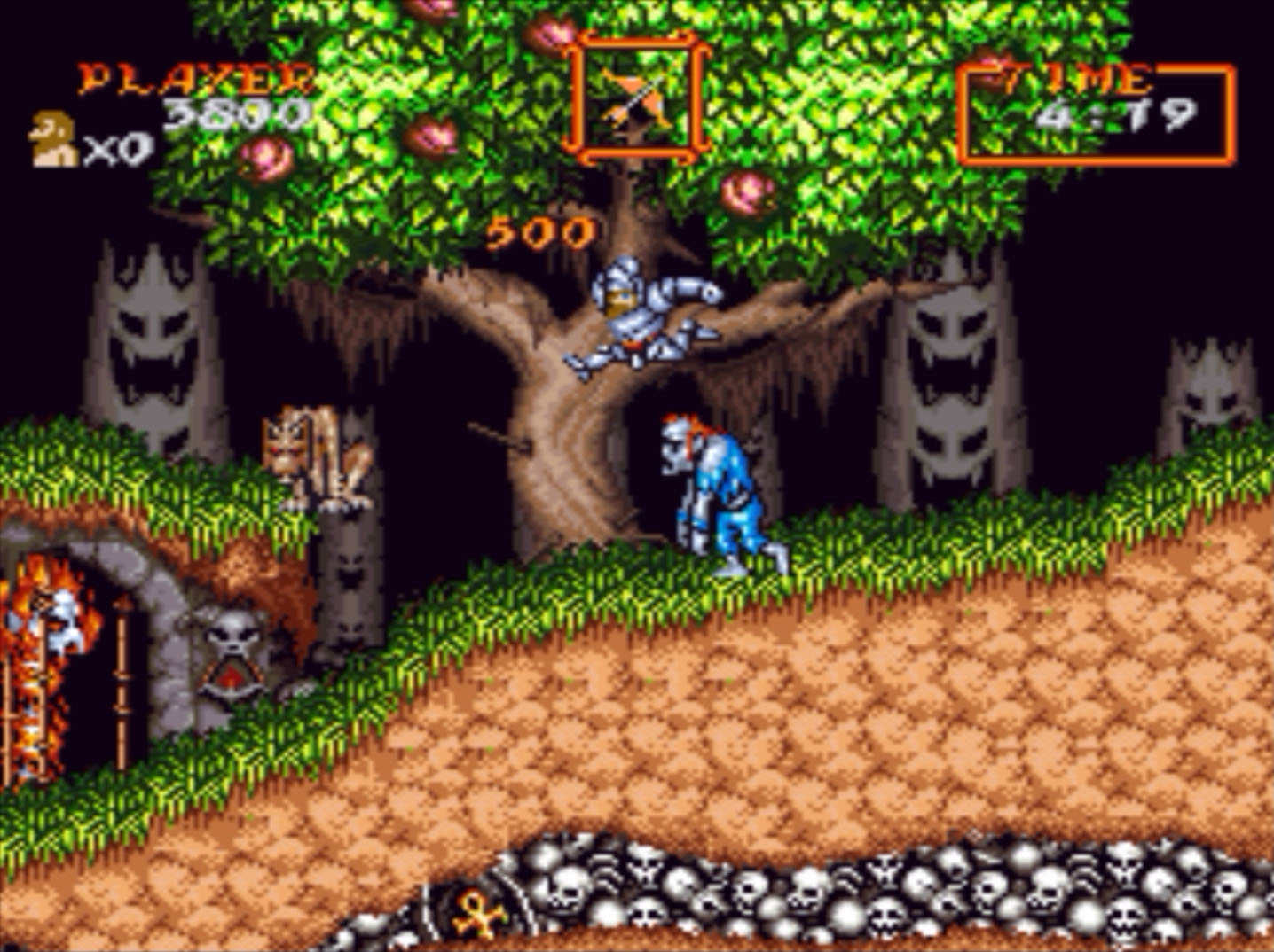 Super Ghouls n' Ghosts Bad Jump