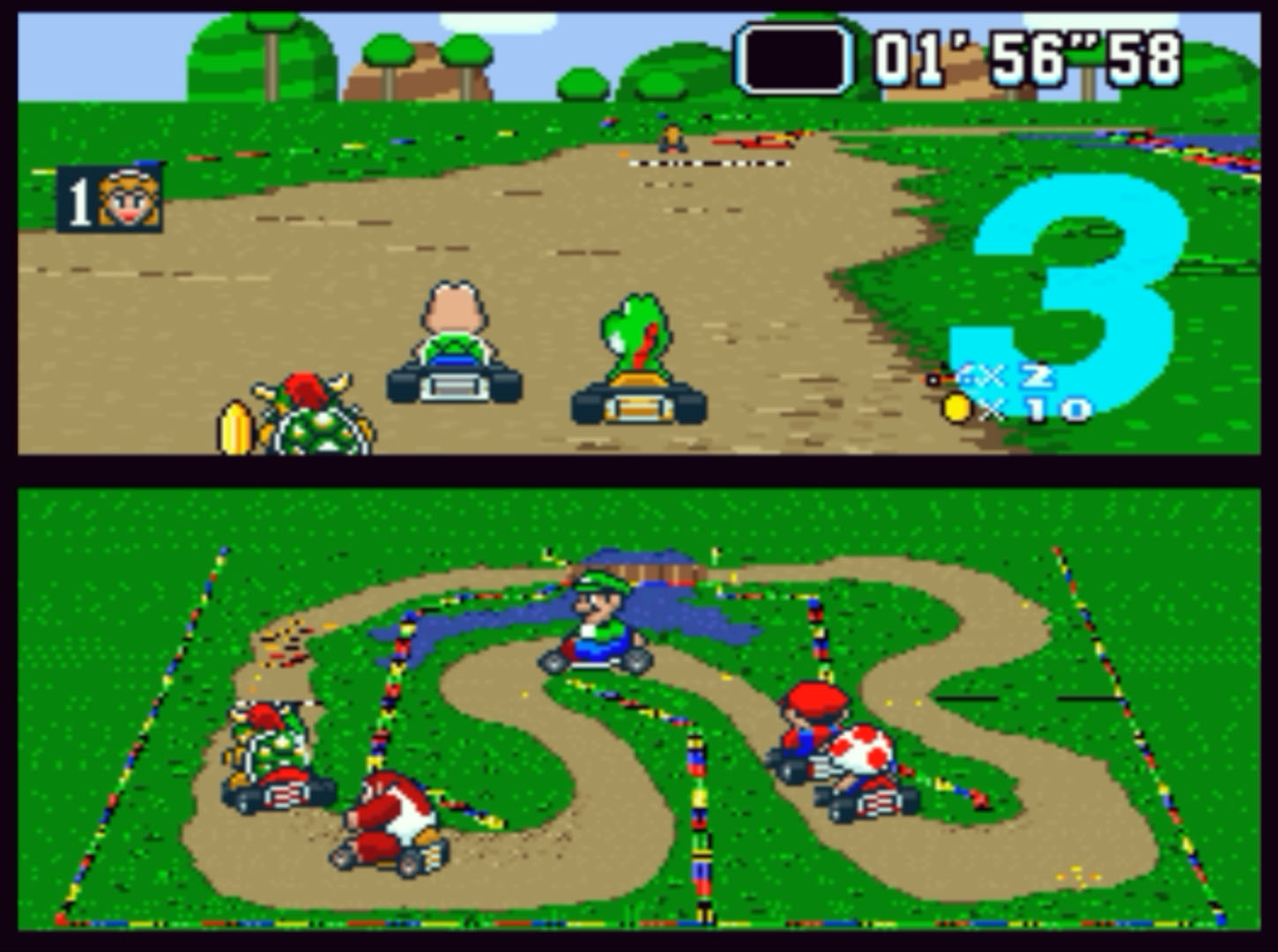 Super Mario Kart Finish Line