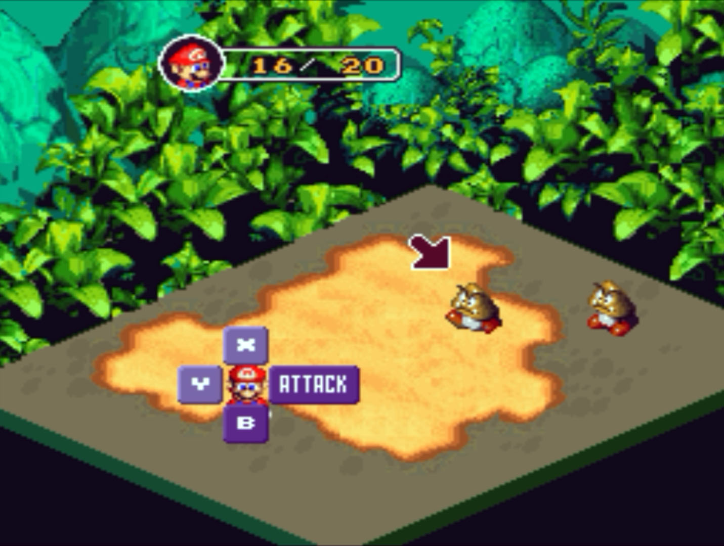 Super Mario RPG Battle